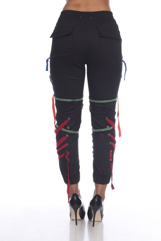 Crazy Laced Detail Joggers
