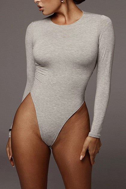 Round Neck Thong Bodysuit