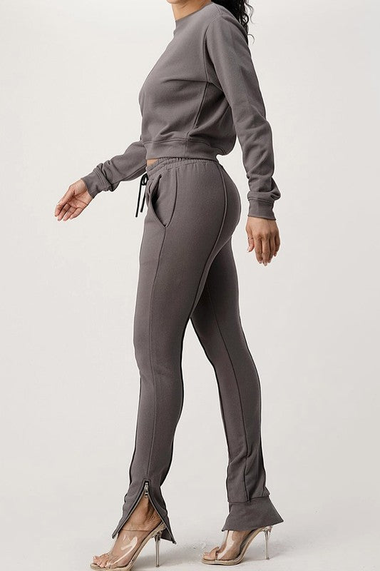 Seam Front Sweat Jogger Set