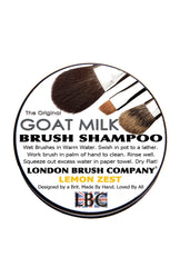 Goat Milk Solid Brush Shampoo: Lemon Zest