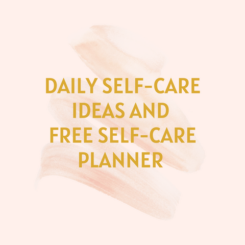 self care ideas planner template free guide sunday tips