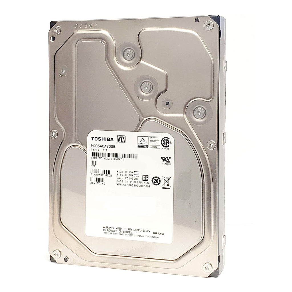 "Toshiba MD05ACA 8TB 7200RPM 3.5"" Internal Hard Drive - SATA 3  6 Gb/s 128MB Cache - (MD05ACA800R) Manufacturer Recertified"