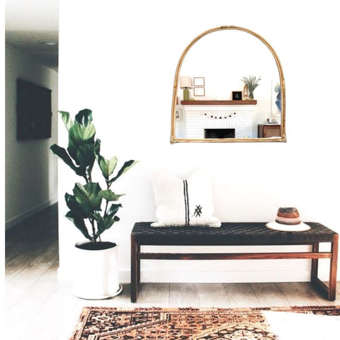 Arcola Arched Bamboo Mirror