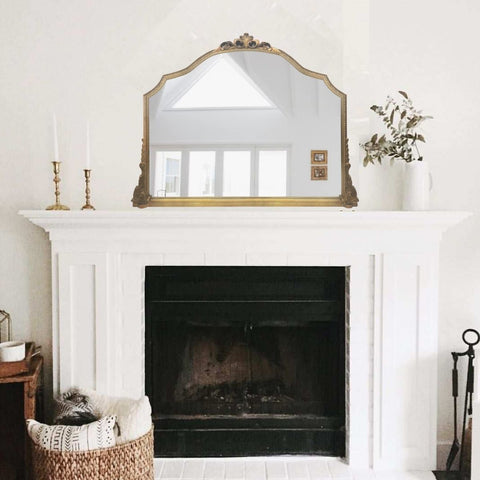 Markle Over Mantle French Mirror Gold 40x3 Inch