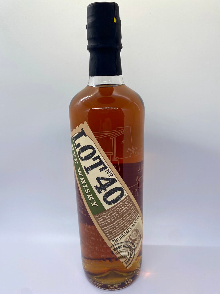 Lot No. 40 Rye Whisky, 750mL 43%