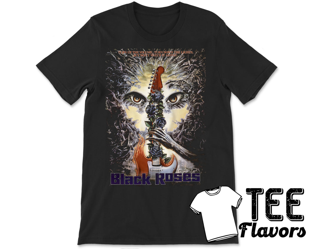 Black Roses 1988 Demonic Horror Movie Tee / T-Shirt