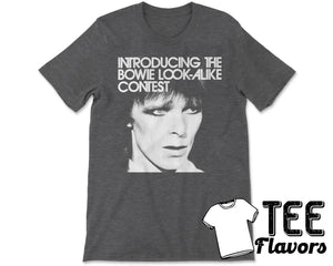 David Bowie Look Alike Contest Pop Rock Punk Music Tee / T-Shirt