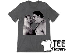 Load image into Gallery viewer, WWF Hulk Hogan Andre The Giant Classic Stare Down Vintage Retro Tee / T-Shirt