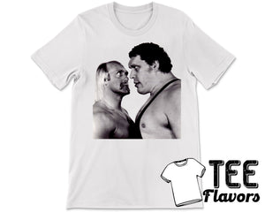 WWF Hulk Hogan Andre The Giant Classic Stare Down Vintage Retro Tee / T-Shirt