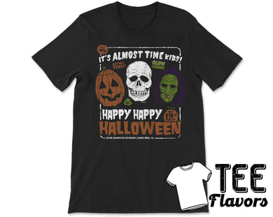 Halloween 3 Silver Shamrock Masks Horror Movie Tee / T-Shirt
