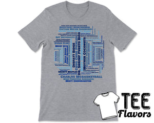 Impractical Jokers Tru TV Name Game Word Collage Tee / T-Shirt
