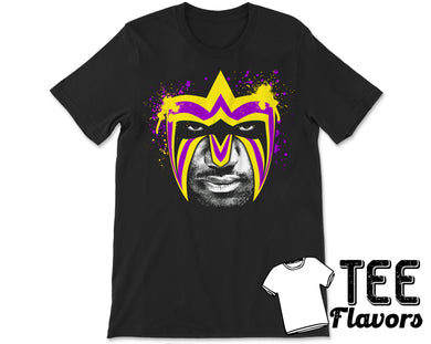 LeBron James as The Ultimate Warrior LA Lakers WWF WWE NBA Tee / T-Shirt