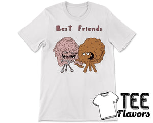 Krang and Meatwad Best Friends TMNT Aqua Teen Adult Swim Tee / T-Shirt