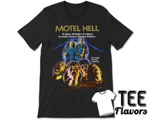 Motel Hell 80s Cult Comedy Horror Movie Tee / T-Shirt
