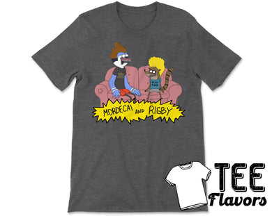 Regular Show Beavis And Butthead as Mordcai And Rigby Cartoon Network Tee / T-Shirt
