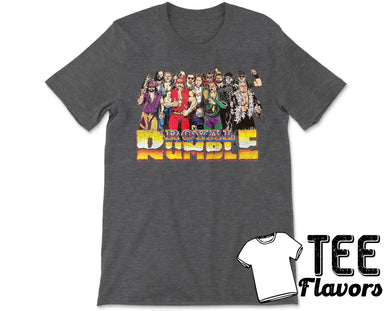 WWF WWE 1992 Royal Rumble Distressed Vintage Retro Tee / T-Shirt