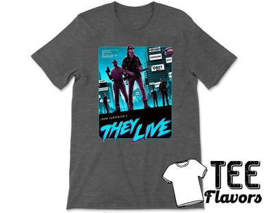 They Live John Carpenters Classic Horror Tee / T-Shirt