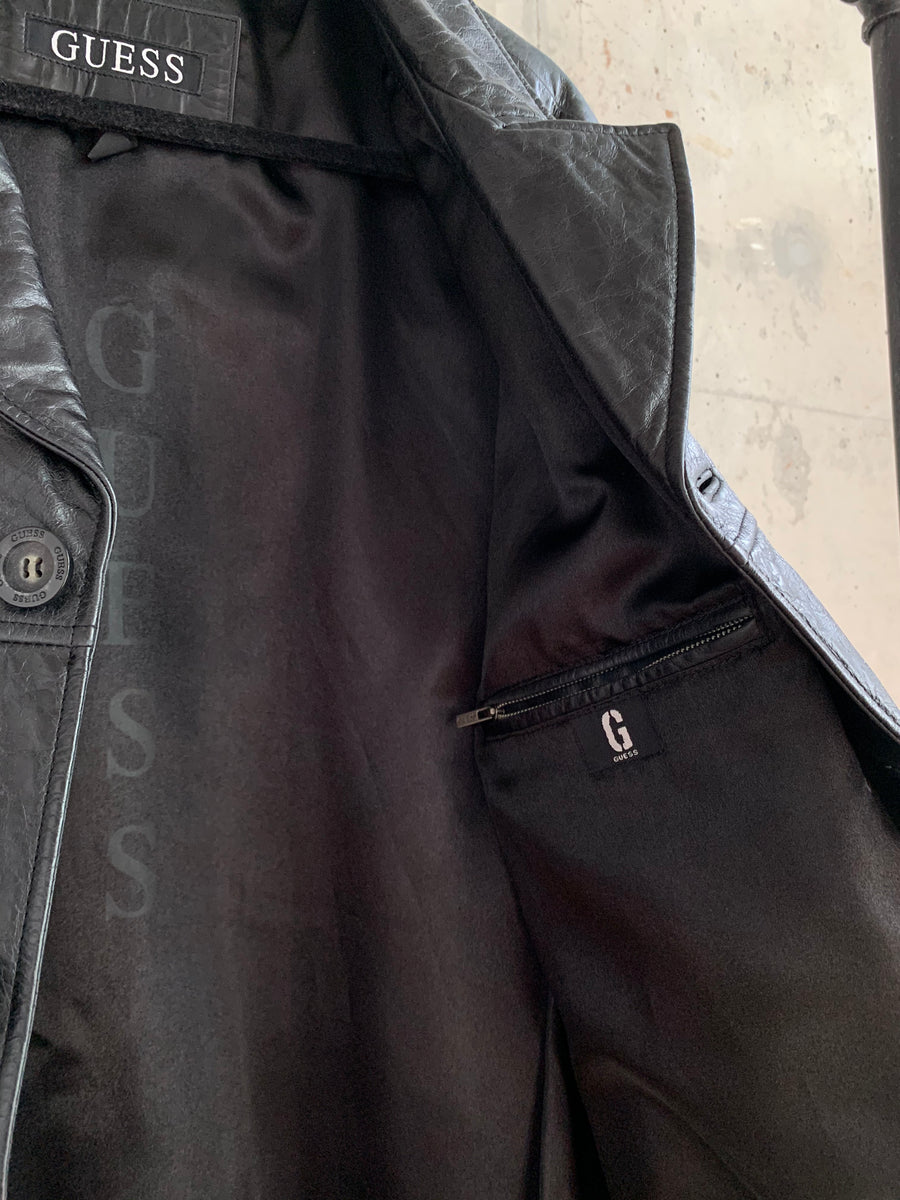 Vintage Guess Genuine Distressed Leather Jacket