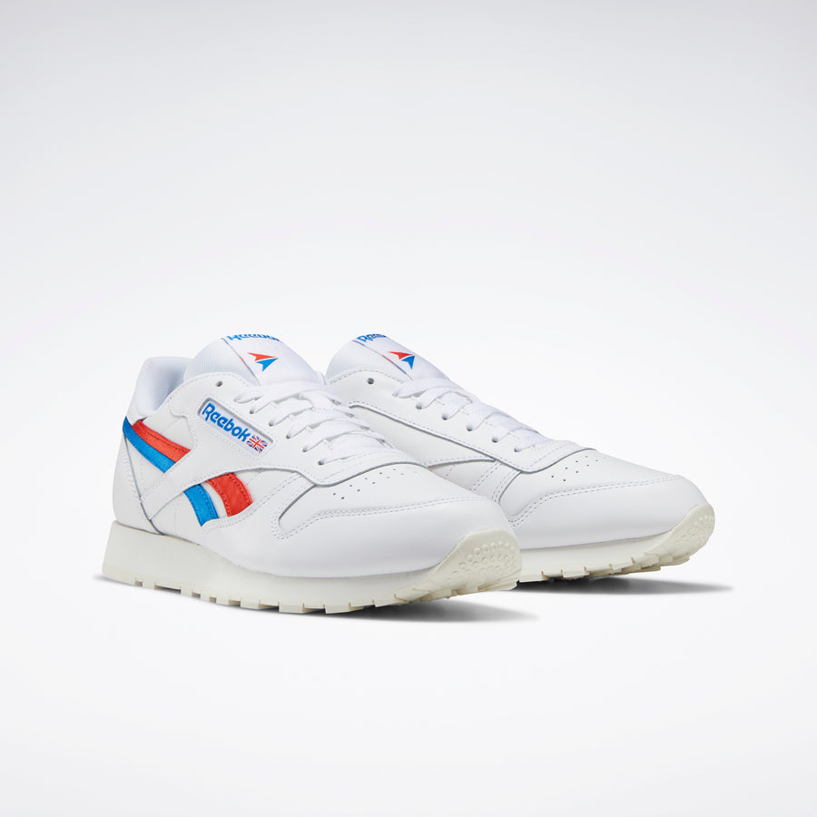 Classic Leather Shoes White / Instinct Red / Dynamic Blue