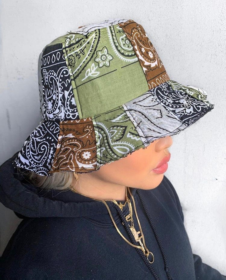 Bandana Patchwork Bucket Hat