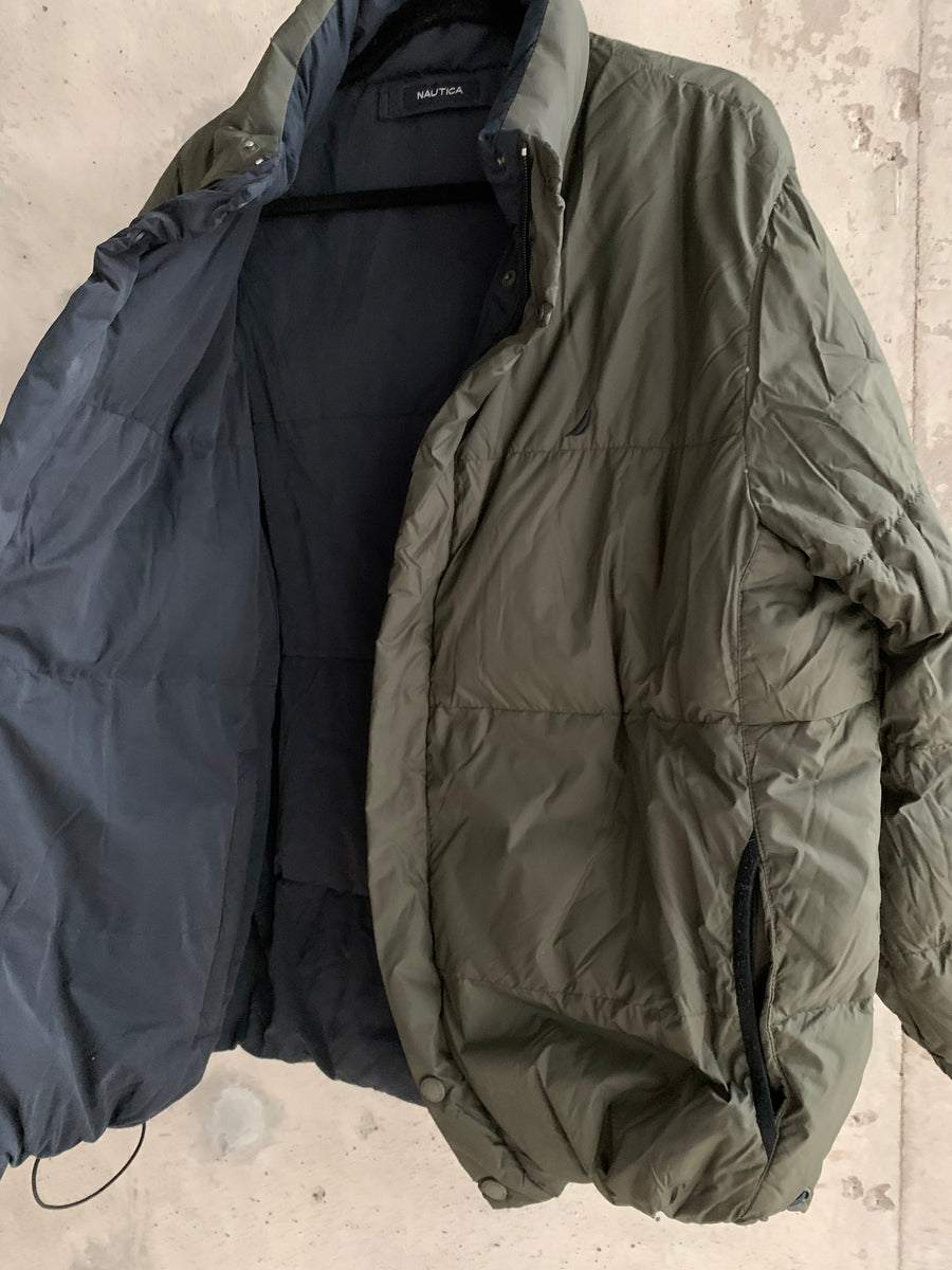 Vintage Nautica Reversible Down Filled Puffer