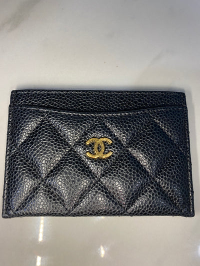Chanel Caviar Leather Card Case the-palm-beach-trunk.