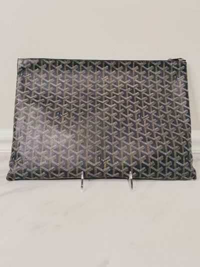 Goyard Large Senat Pouch in Black-The Palm Beach Trunk Designer Resale and Luxury Consignment