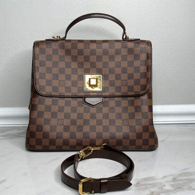 Louis Vuitton Damier Ebene Bergamo GM-The Palm Beach Trunk Designer Resale and Luxury Consignment