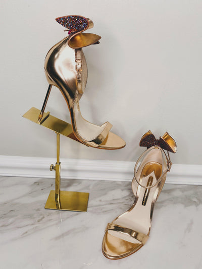 Sophia Webster Gold Bow Maya Stiletto-The Palm Beach Trunk Designer Resale and Luxury Consignment