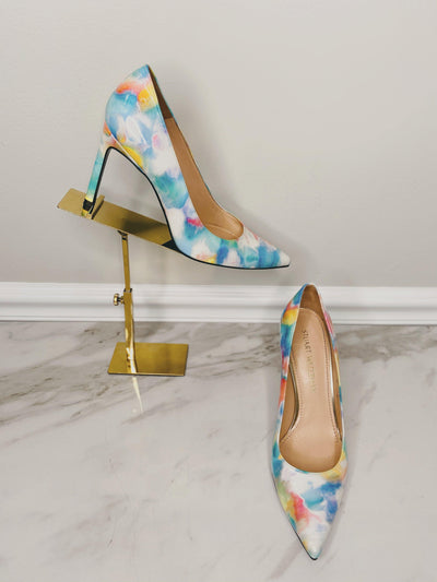 Stuart Weitzman Watercolor Patent Leather Pump-The Palm Beach Trunk Designer Resale and Luxury Consignment