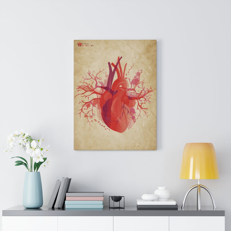 """The Visceral Heart"" Canvas Print"