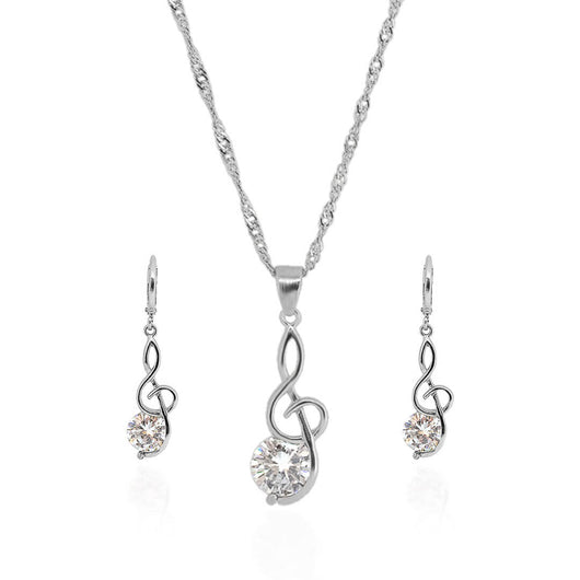 Audrey Jewelry Set – Silver