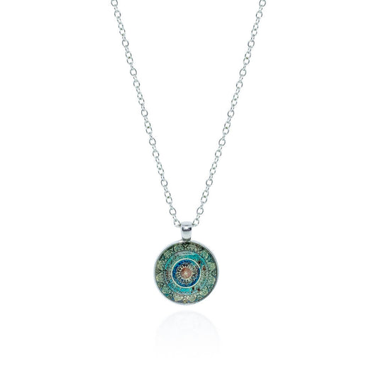 Dea Necklace – Silver/Green