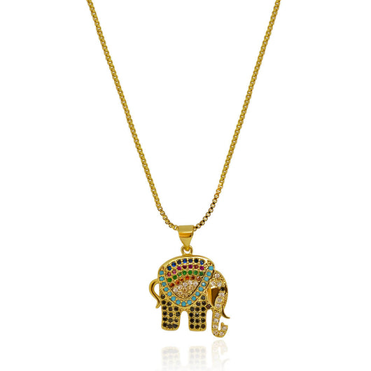 Electra Elephant Necklace – Gold