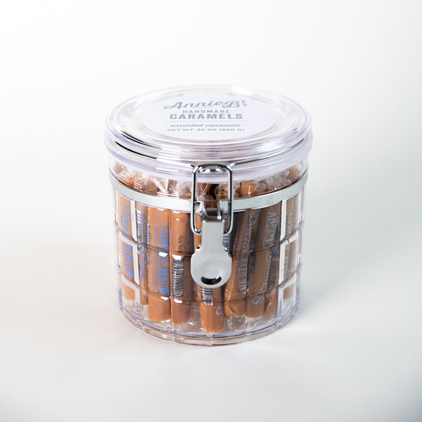 Round Caramel Canister - 60 Pieces (Assorted Flavors)
