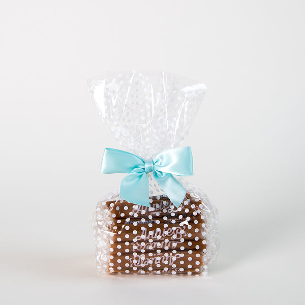 Caramel Polka Dot Gift Bag