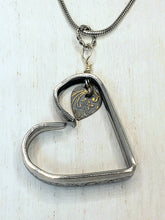Load image into Gallery viewer, Heart Silverware Heart Necklace