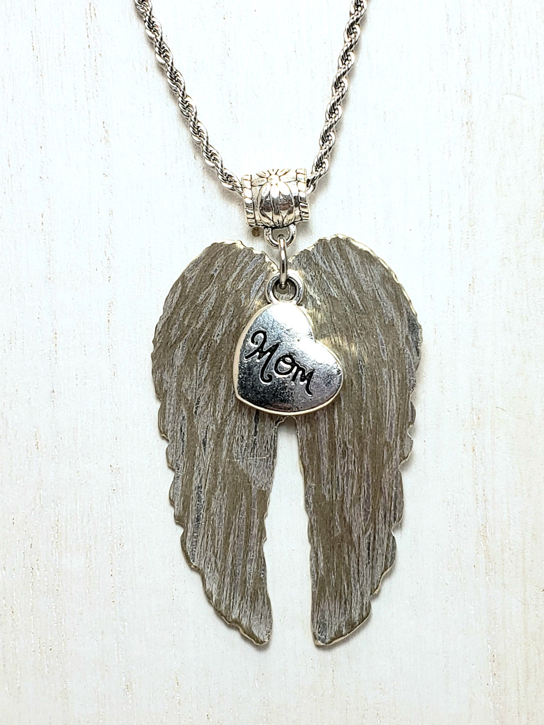 Mom's Angel Wings Necklace