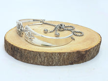 Load image into Gallery viewer, Sunflowers Galore Silverware Double Slider Bracelet
