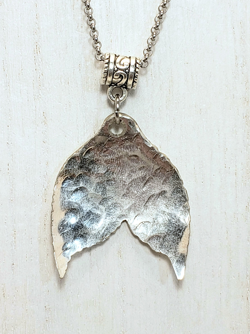 Whale Tail silverware Necklace