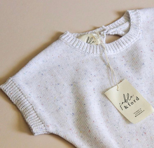 Sprinkle Knit Onesie - Milk