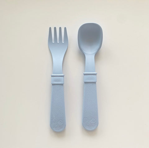 Fork & Spoon Set - Ice Blue