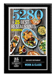 2015 Best Restaurants Plaque