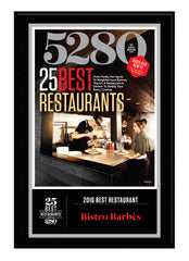 2016 Best Restaurants Plaque