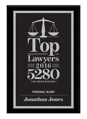 2016 Top Lawyers Plaque