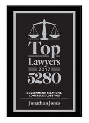 2017 Top Lawyers Plaque