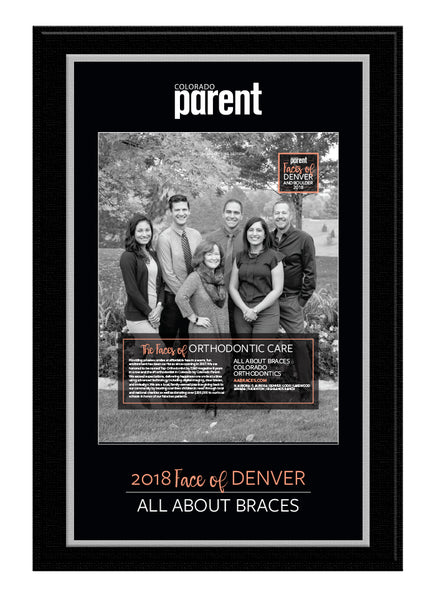 Colorado Parent 2018 Faces Plaque