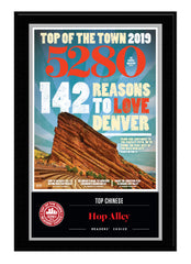 2019 Top of the Town Plaque -  Readers' Choice