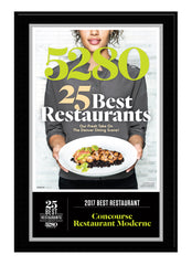 2017 Best Restaurants Plaque