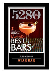 2015 Best Bars Plaque
